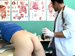 Twink goes close to for an third spread with an increment of gets his ass checked out by the doctor