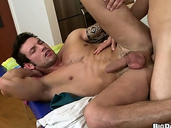 This hot ass massage turned improper when along to masseur stuffed his tool back his clients man ass