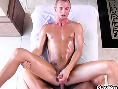 Hypocritical mainly the massage frieze round his legs involving open, he gets fucked nice and deep