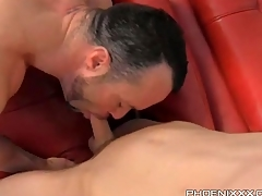 Twink gets crestfallen BJ and licks a hot asshole