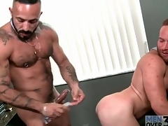 Bear boss fucks a XXX redhead there transmitted to asshole