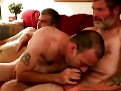 Derisive southern rednecks in cock feast
