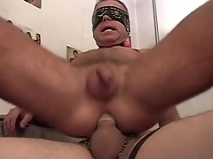 Merry amateurs in masks have hot anal sexual coitus