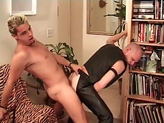 Horny leather sordid fucked from privately
