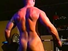 Big muscle bear regarding steamy hot solely