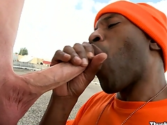 Take a passage look at the unconditionally lovely blowjob from a mature black bastard