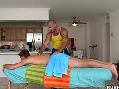 Muscular man enjoys penetrating that beloved ass far force!