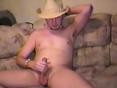 Sexy young stud plays with his stuff and nonsense and takes his cock around pleasure