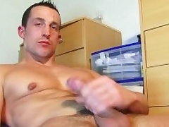 Full video (25mns): A str8 soccer player gets wanked his tall cock away from a impoverish