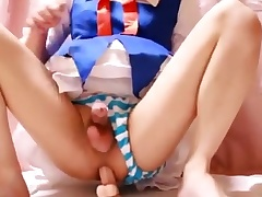 [Japanese crossdresser] toho Cirno cosplay scold
