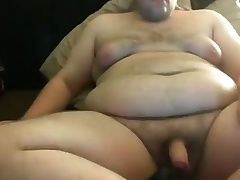 Licking my tits with the addition of cumming on my Belly