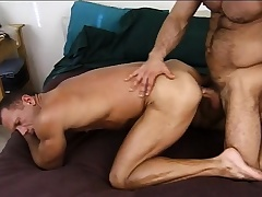 Voluptuous army brace gives a sexy recruit the anal drilling he deserves